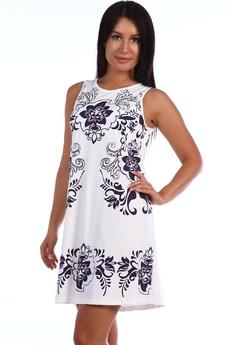 Летнее белое платье из хлопка Натали
