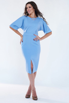 Нарядное голубое платье Angela Ricci