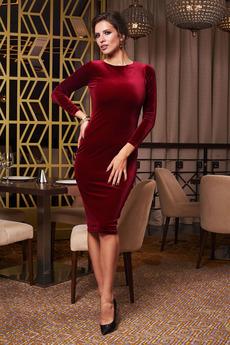 Бархатное платье с открытой спиной Angela Ricci
