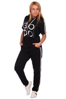 Черный спортивный костюм с капюшоном ElenaTex со скидкой
