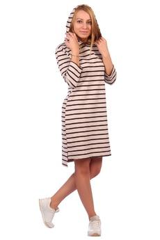 Платье в полоску с капюшоном ElenaTex